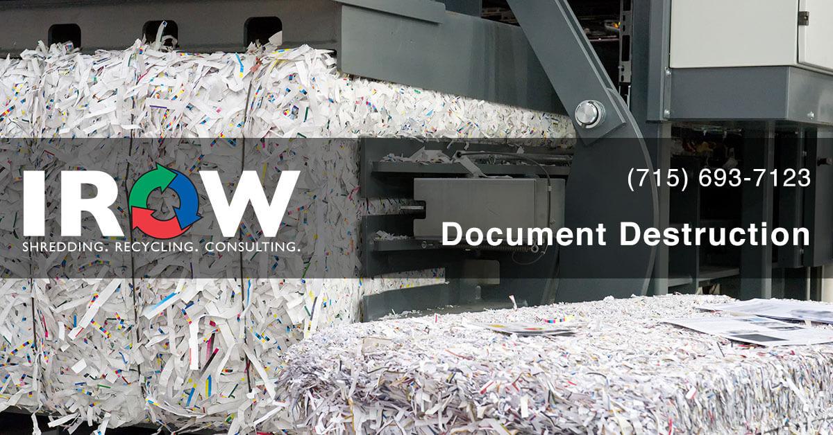document destruction in Rosholt, WI
