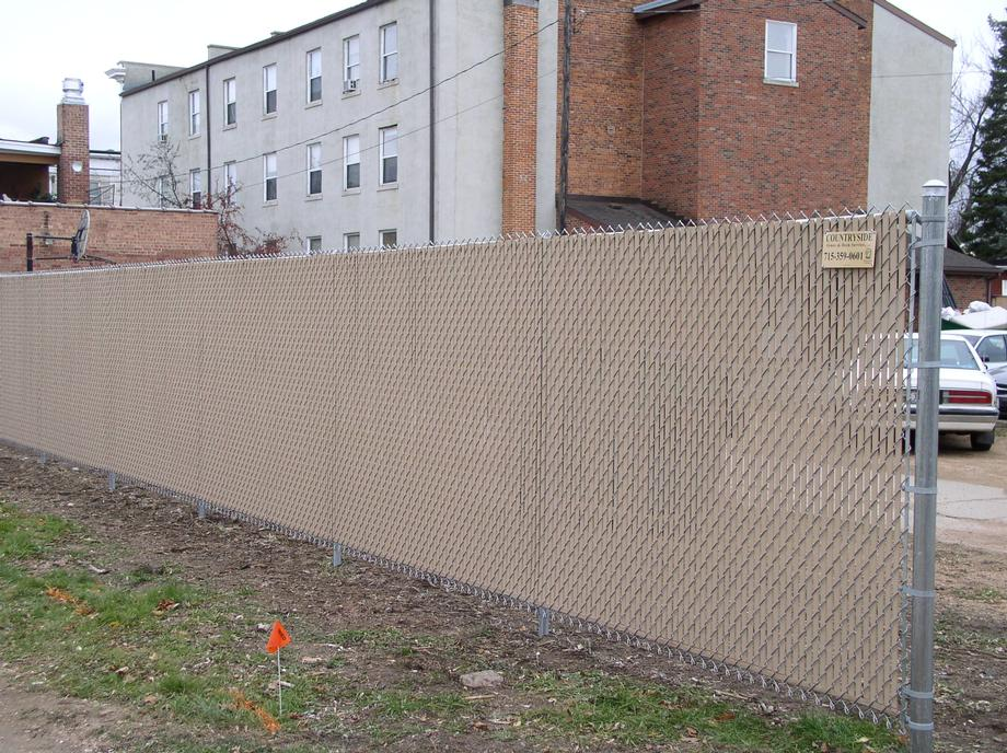 Residential chain link fencing in Stevens Point, WI