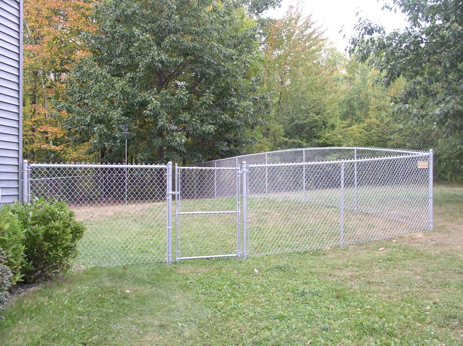 Residential chain link fencing in Merrill, WI