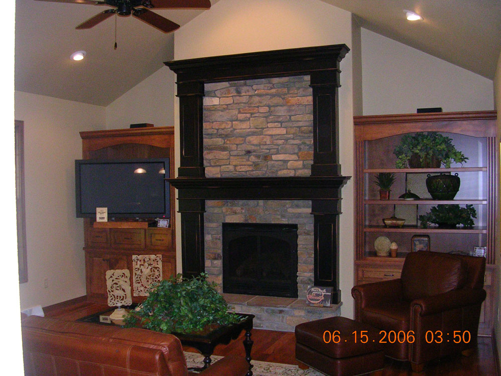 Fireplace mantels in Shawano County