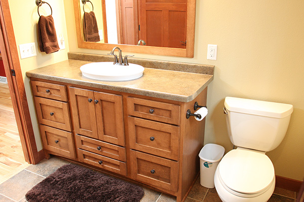 Look! Custom Bathroom cabinets in Shawano County
