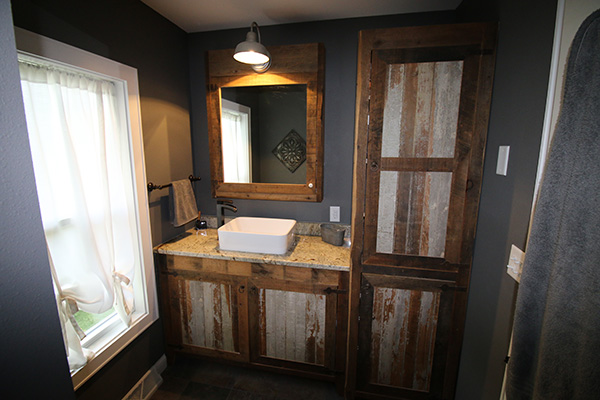 Look! Custom Bathroom cabinetry in Langlade County