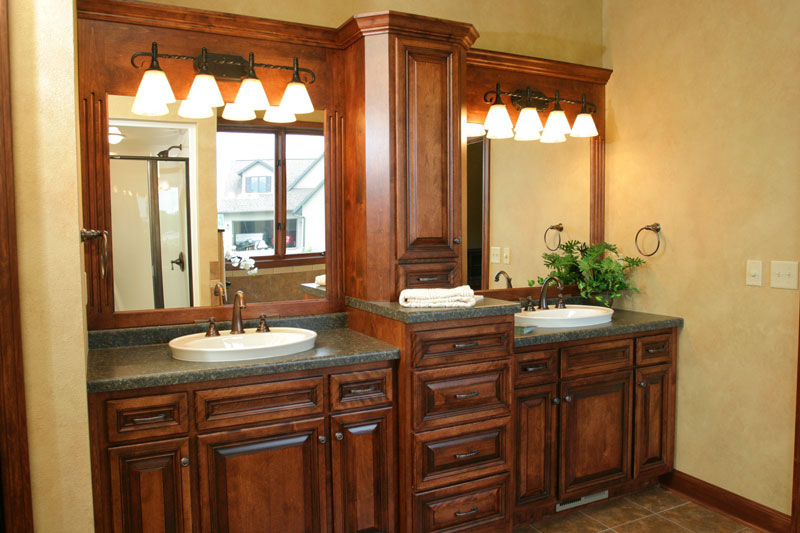 Look! Custom Bathroom cabinets in Plover, WI