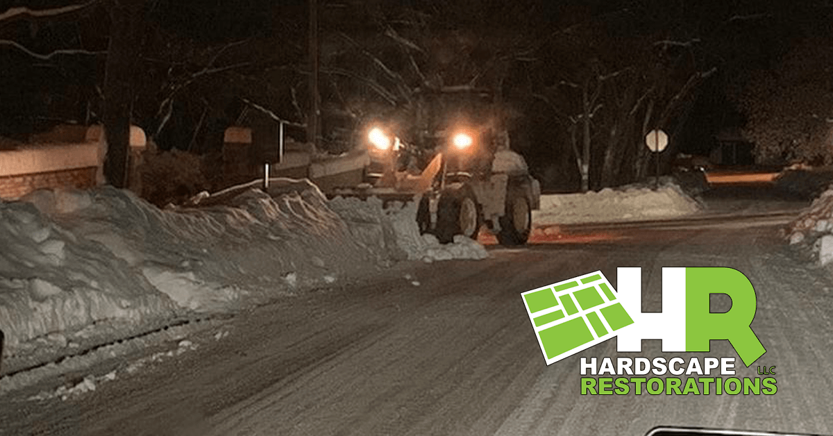 Parking Lot and Sidewalk Salting in New Holstein
