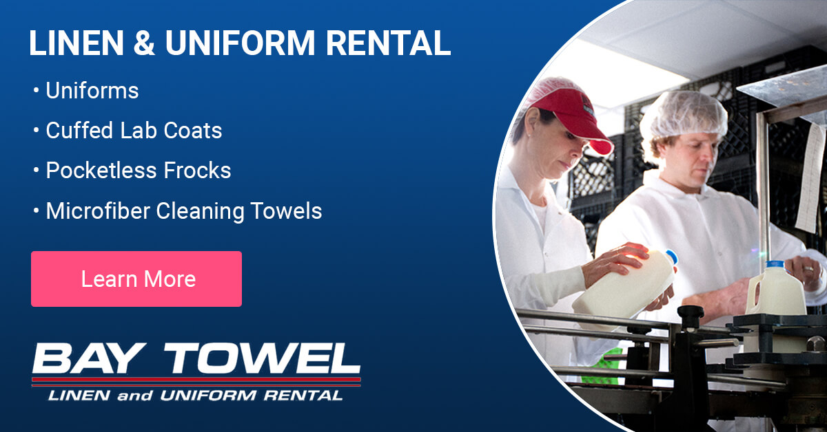 Food Manufacturing Garment Cleaning Services in Brown County Wisconsin