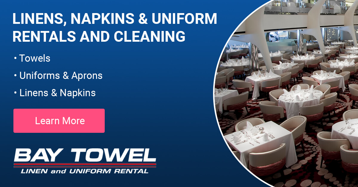 Linen, Napkin & Uniform Rental and Cleaning Services in the Green Bay area