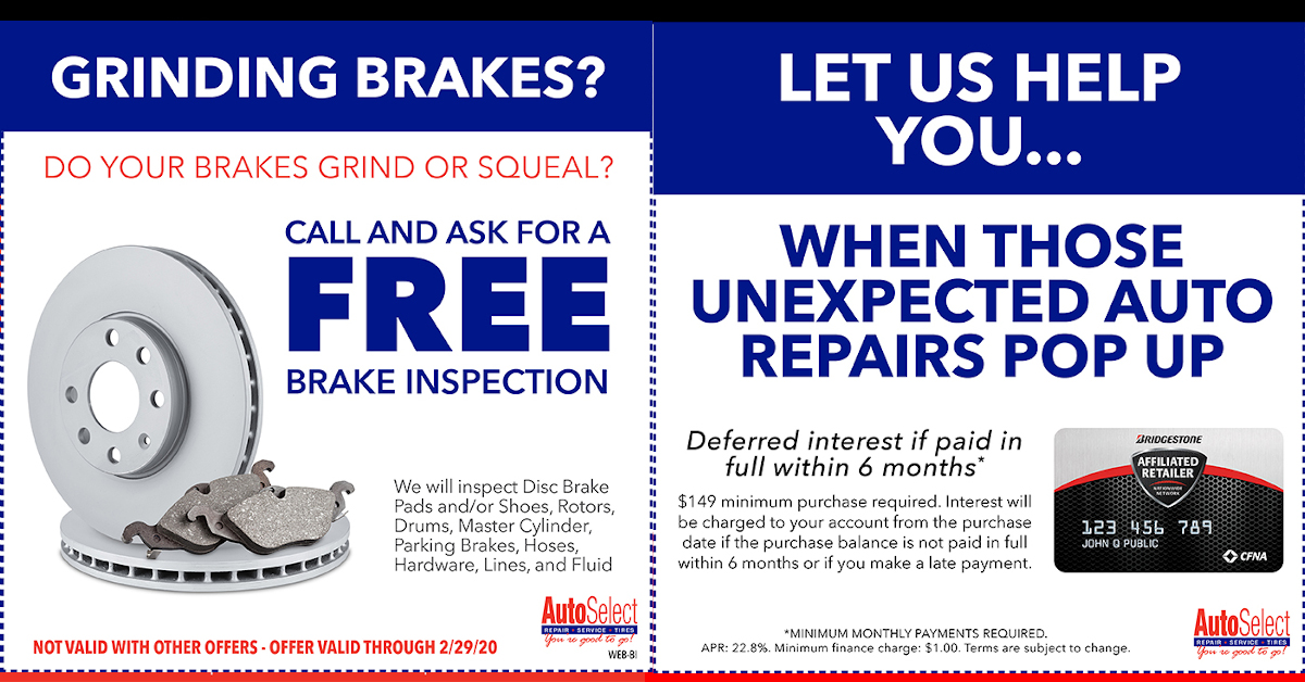 Special! Best Auto Repair & Tire Coupons at all Auto Select Locations!