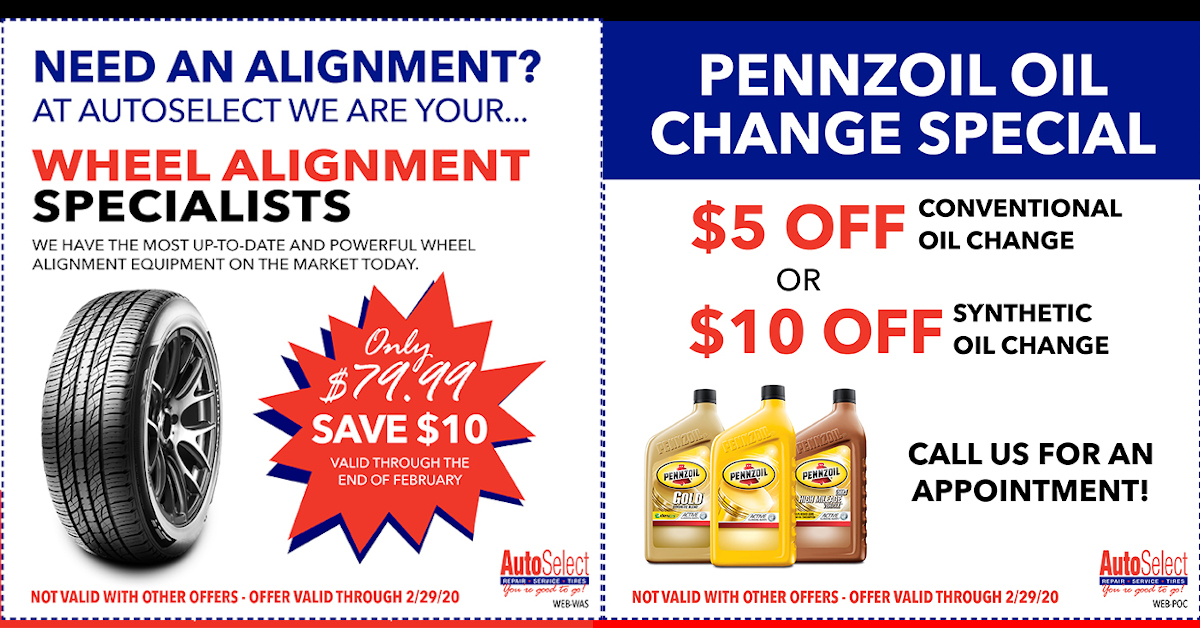 Don't miss out! Best Automotive Specials at Locations in Weston, Stevens Point, Appleton, Green Bay, Neenah and Shawano