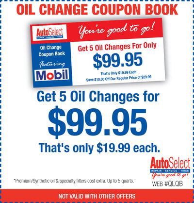 Don't wait! Affordable Oil Change Coupon Books in Neenah, WI