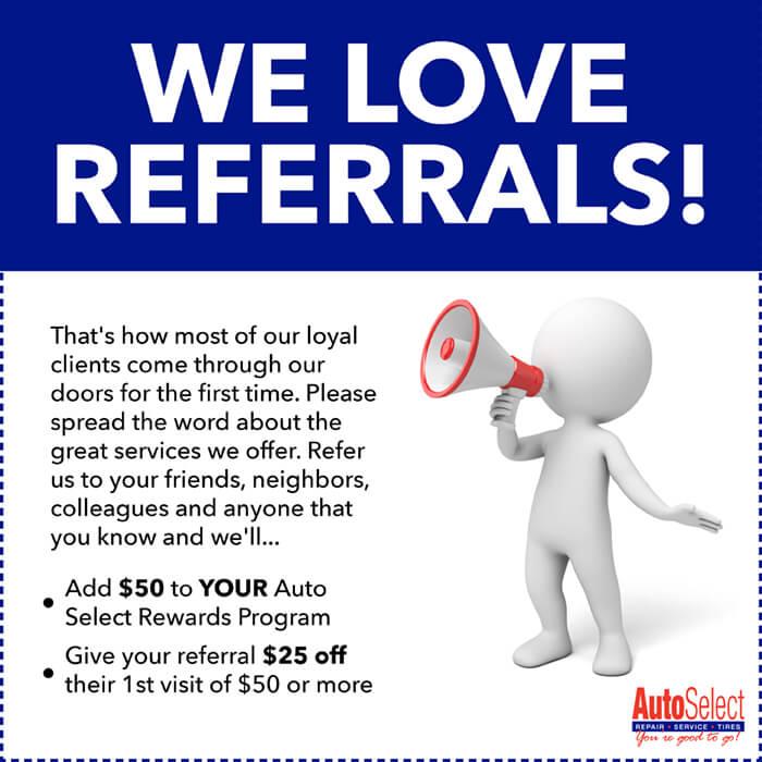 Look!  Referral Rewards Program in Weston WI