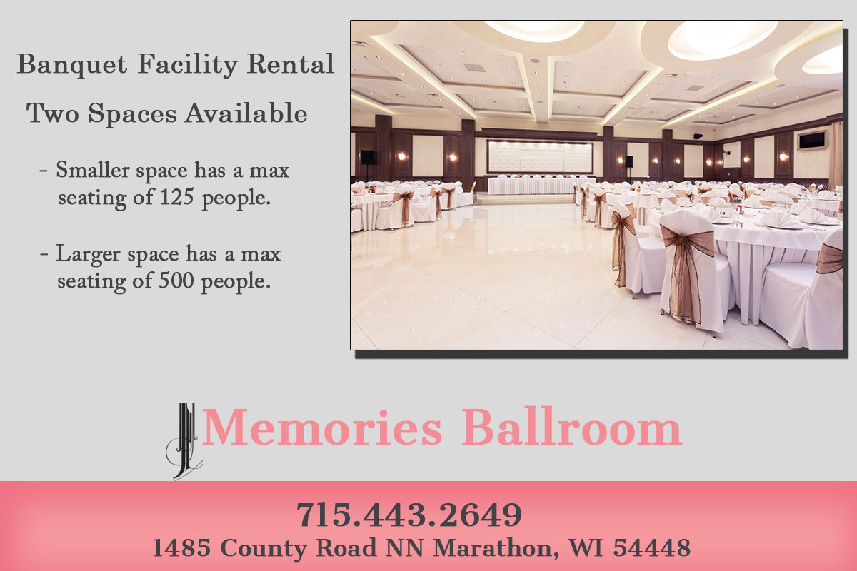 conferences Banquet Facility in Marathon County, WI
