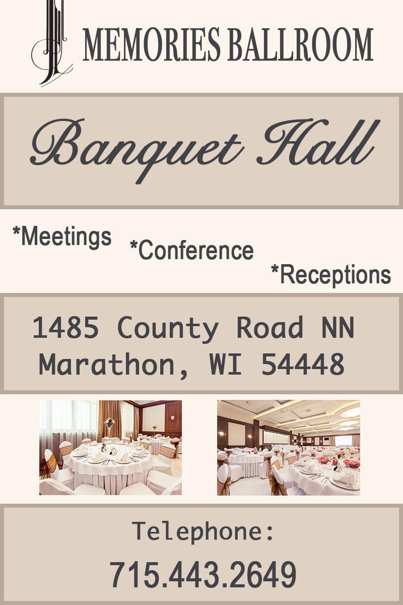 conferences Banquet Facility in Marathon, WI