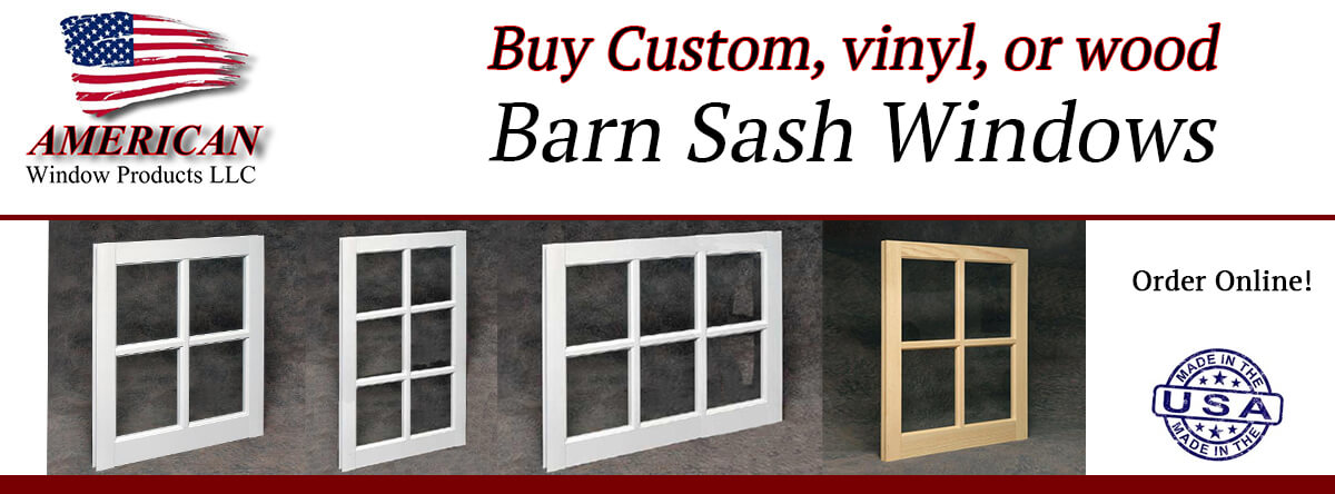 Buy Now! New Vinyl Barn Sash Windows