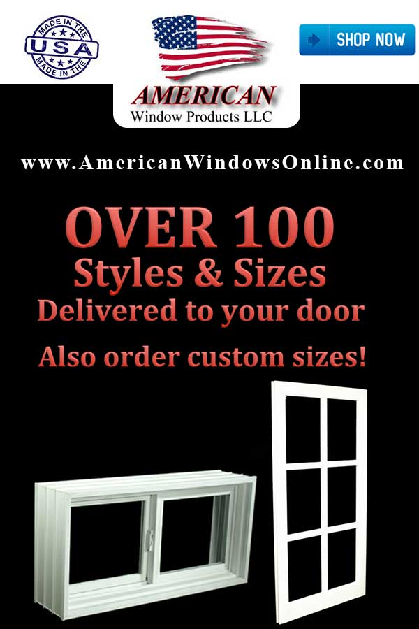 Buy Now! New PVC Non Insulated Single Hung Windows