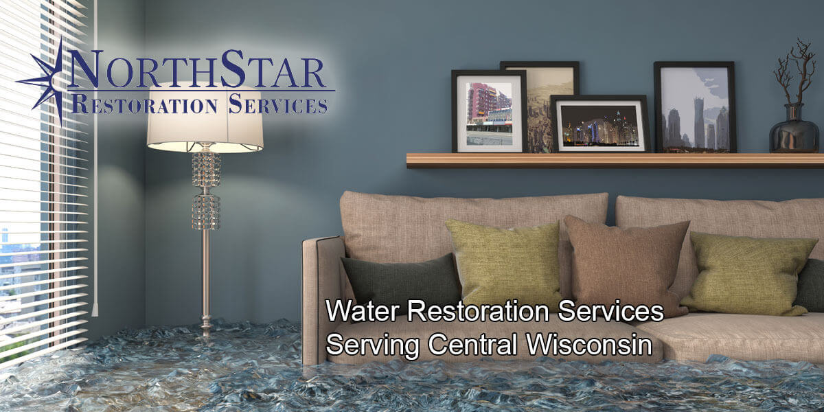 water damage restoration in Mosinee, WI