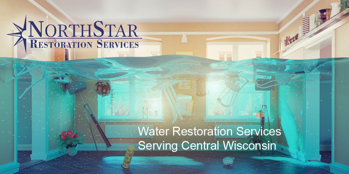 water damage repair in Rosholt, WI