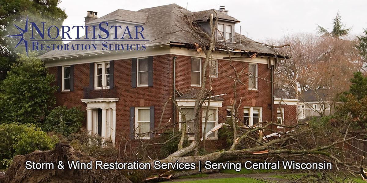 wind damage repair in Rosholt, WI