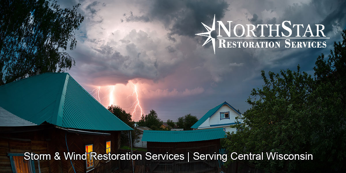 storm damage restoration in Mosinee, WI