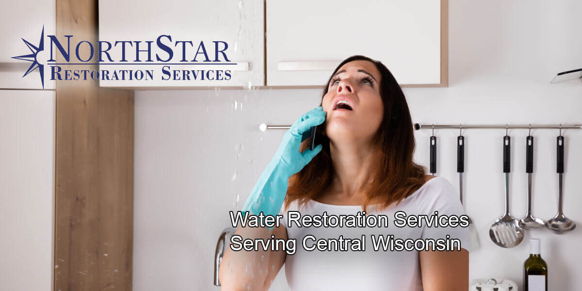 water damage repair in Wausau, WI