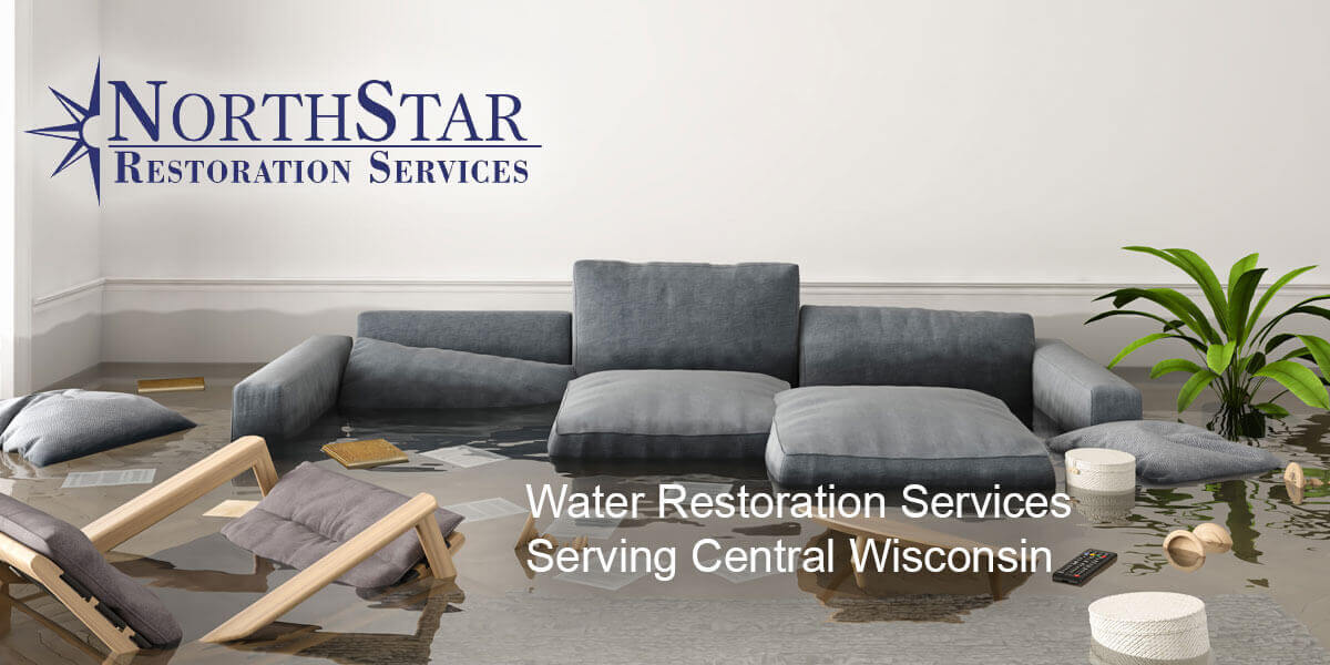 water damage cleanup in Wausau, WI