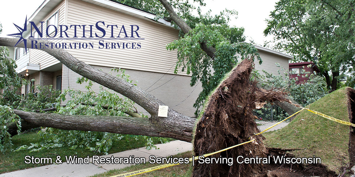 storm damage repair in Athens, WI
