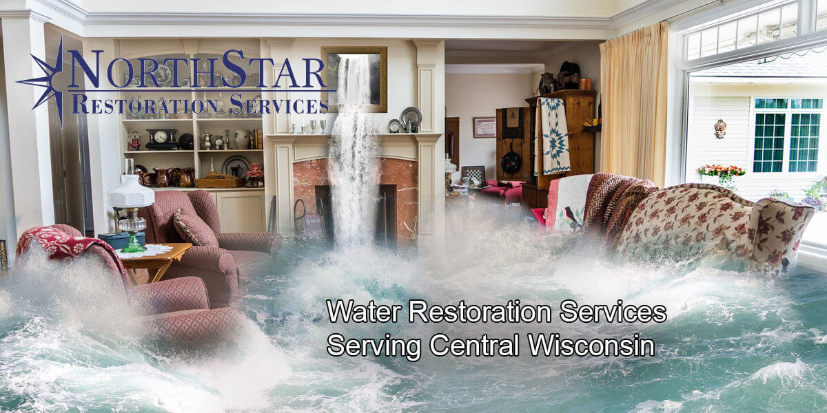 water damage restoration in Wisconsin Rapids, WI