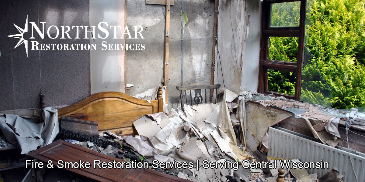 fire and smoke damage restoration in Plover, WI