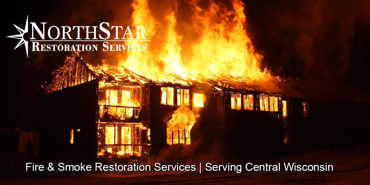 fire and smoke damage restoration in Rosholt, WI