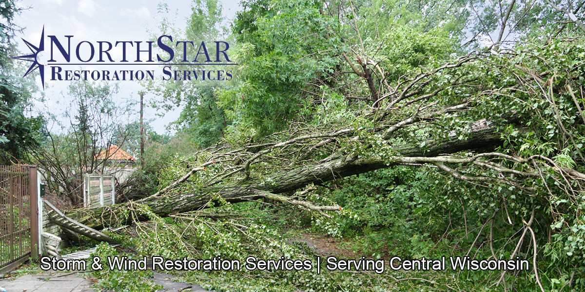 wind damage restoration in Marathon City, WI