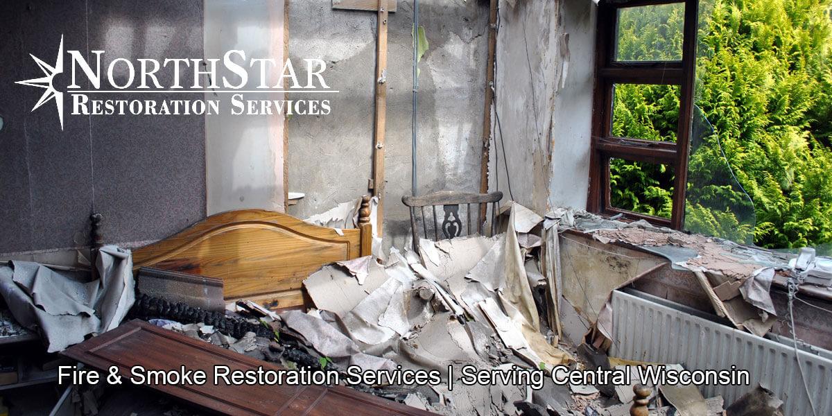 fire damage repair in Irma, WI