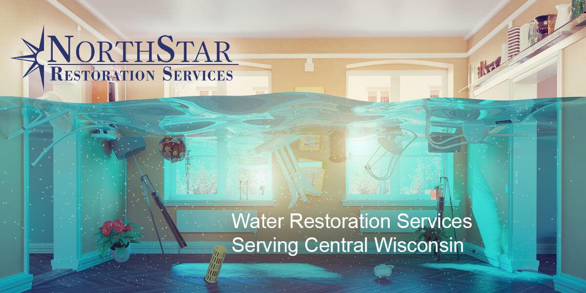 water damage repair in Plover, WI