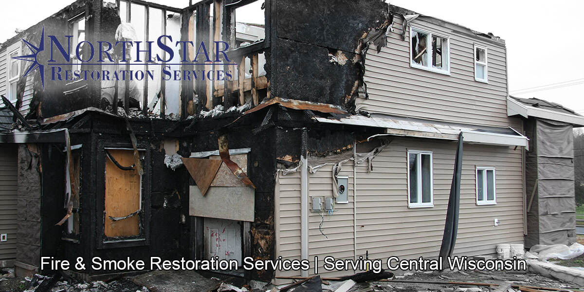 fire and smoke damage restoration in Abbotsford, WI