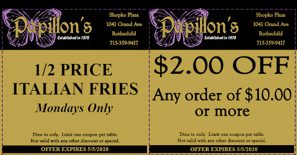 Restaurant Coupons for Wausau Area